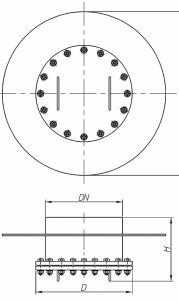 Люк-лаз круглый без поворотного устройства